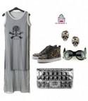 Skull mesh dress