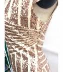 Sequin stripe shorts dress