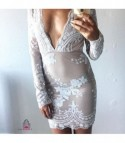 White sequinflow Dress