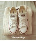 Converse All Star bassa Bianco basic