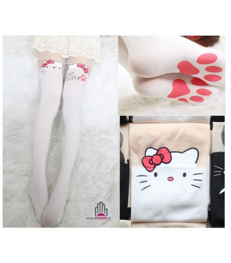 Collant Hello Kitty bianco