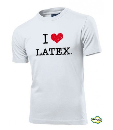T-shirt I love Latex