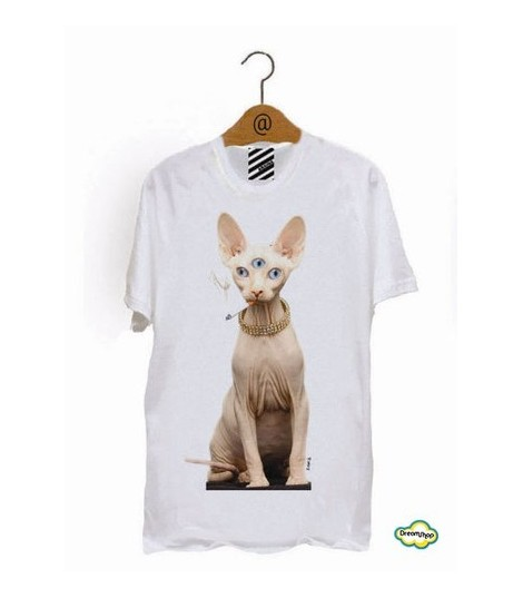 Naked Wise Cat Tee