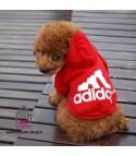 Felpa Adidog Rosso TOY