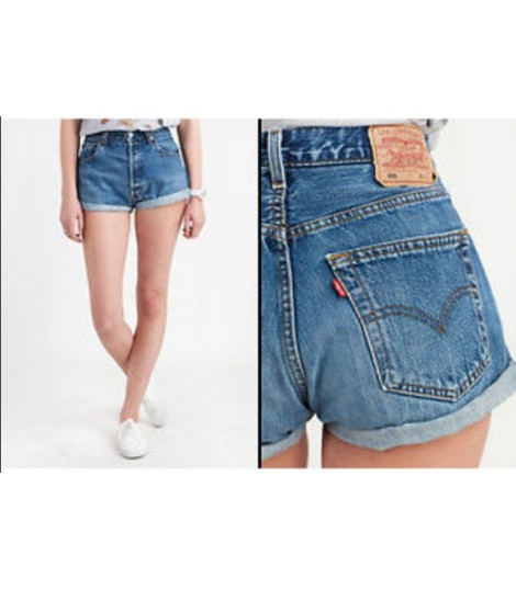 negozio online ae7ab baf48 Shorts Levis 501 Vintage Light Blue 6