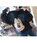 Maxi Felpa Mickey Mouse Black