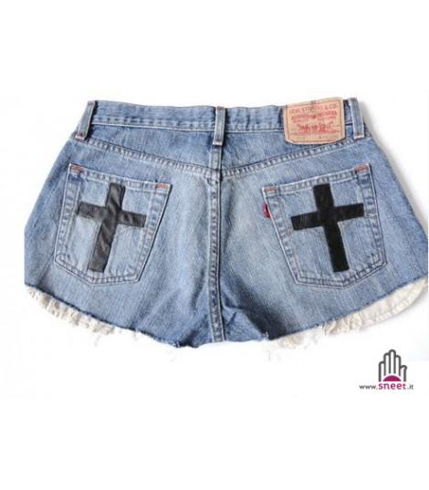 Levis Shorts Black Cross