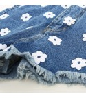 Flower Denim Shorts