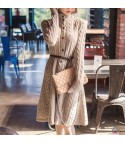 Maxidress in maglia con bottoni Tessa