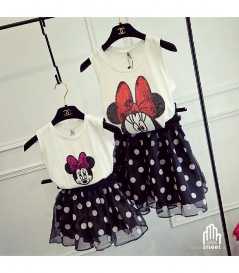 Vestito Minnie Pois Mamma
