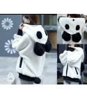 Felpa Orecchie Panda