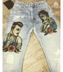 Levis 501 custom Man Woman Old Style