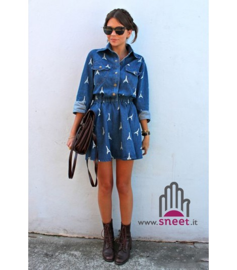 sports shoes 5b7b3 ef709 Denim Eiffel Dress