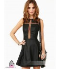 Cross mesh out dress
