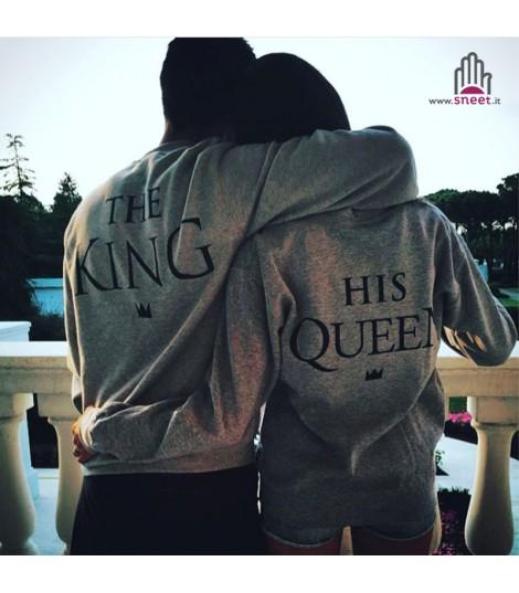 scarpe di separazione a5536 c86ff Felpe The King - His Queen