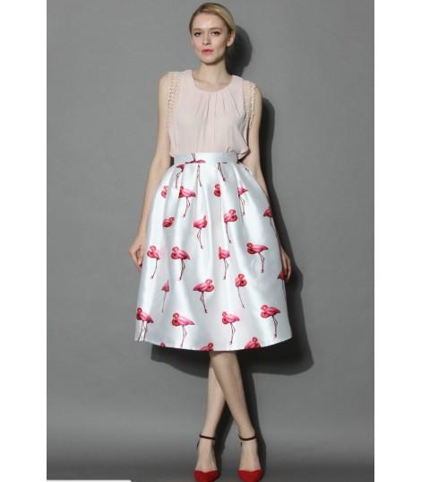 Maxigonna pink flamingo