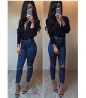 Jeans Skinny straps whipe
