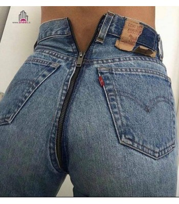 Levis 501 back zipper