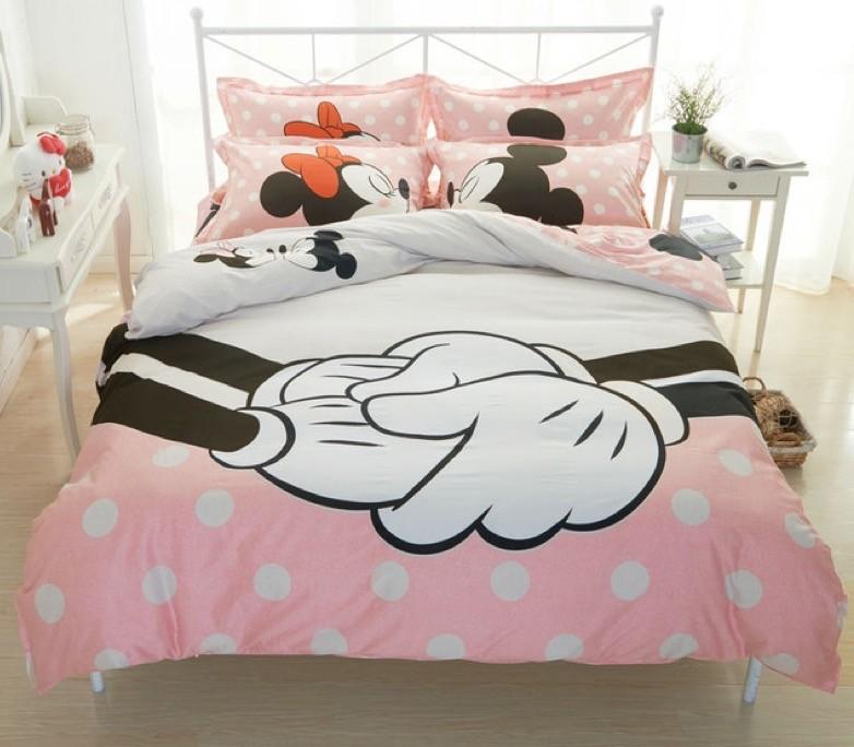 Completo letto pinkie minnie and mickey dream shop - Completo letto minnie e topolino ...