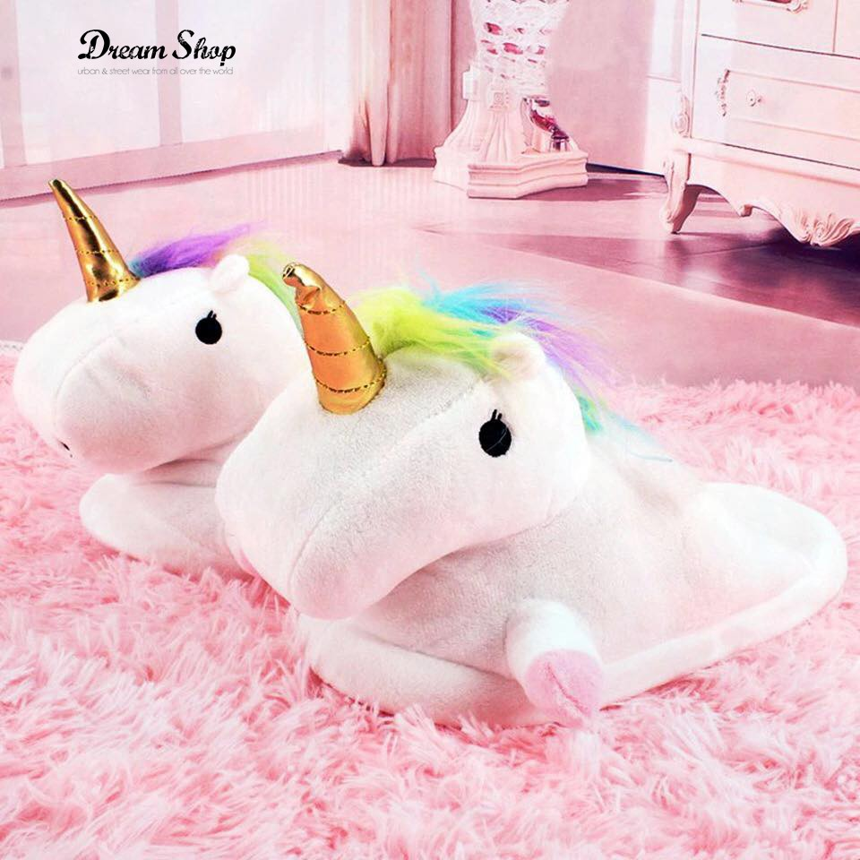 100% di alta qualità Super carino davvero comodo Unicorno Luminose Bambina Bambina Luminose Pantofole ...