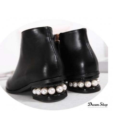 Scarponcini pearl heel