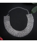 Collier strass extra