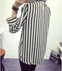 Camicia righe bianco Nero