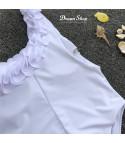 Costume intero monospalla petals
