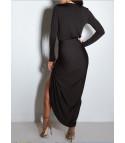 Drap Vee Dress