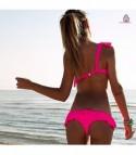 Bikini monospalla volant