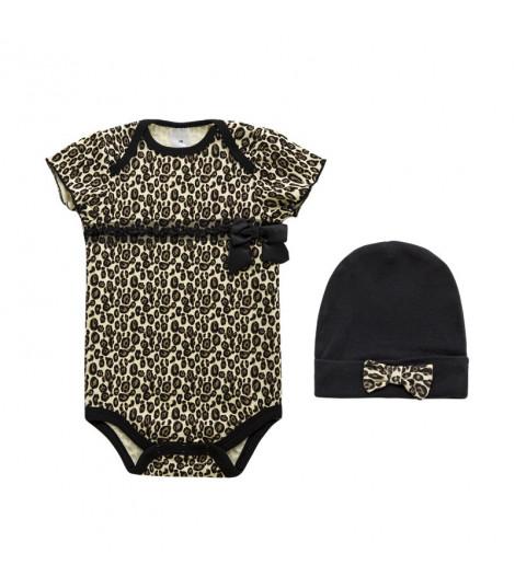Body e cappellino leopard baby