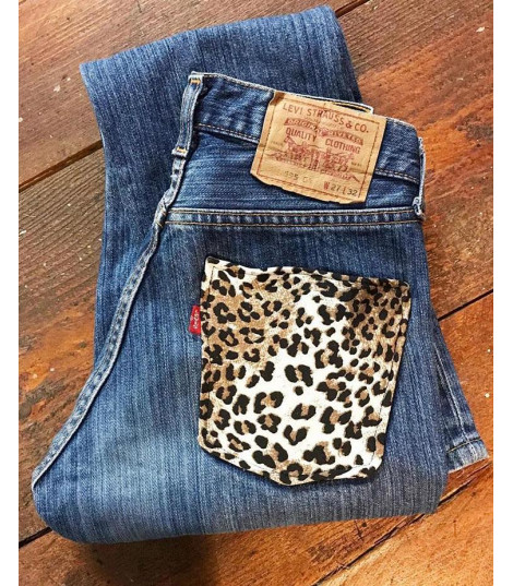 Levis 501 animalier pocket