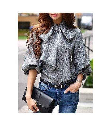 Camicia gessata bow