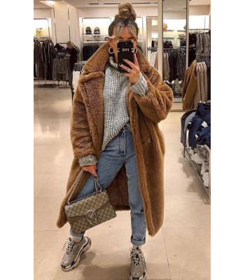 Maxi cappotto peluches
