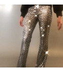 Sequin flared pants