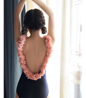 Costume intero pink spring coppe