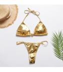 Bikini fascia metallizzato Kamana