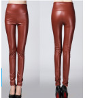 Leggings ecopelle colorati vita alta