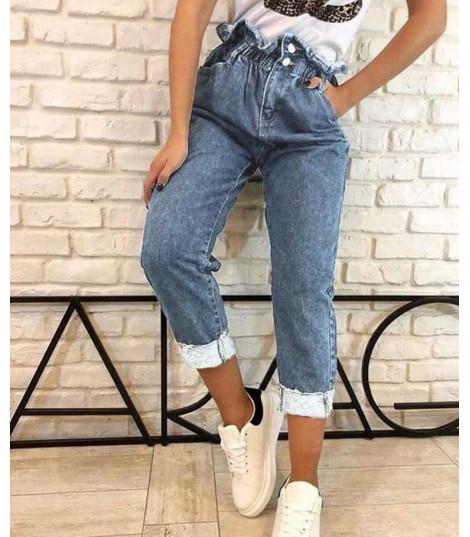 Jeans a vita alta asimmetrik