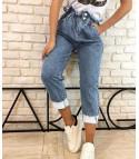 High-waisted jeans asimmetrik
