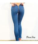 Jeans stretch back zipper