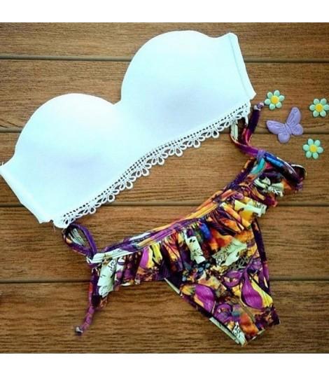Bikini Balcony Bianco Fiori
