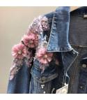 Giubino jeans fiorito