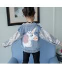 Giubbino baby denim unicorn