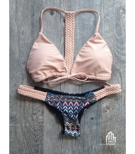 Bikini pink aztech