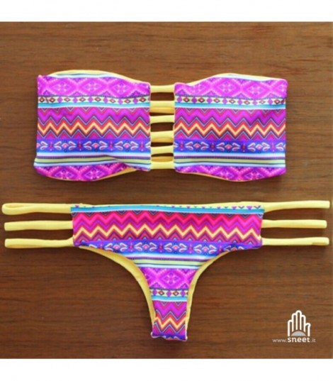 Bikini atzech Pink-yellow