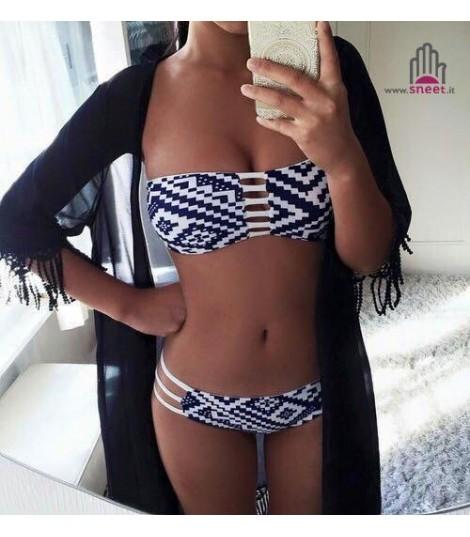 Bikini atzech White-blue