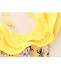 Costume intero bimba yellow flowers