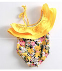 Costume intero bimba yellow flowers