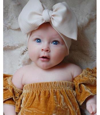 Fascia-fiocco neonata a costine